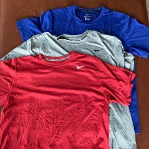 Nike dry fit work out shirts